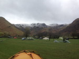 Campsite on the morning of Day 2.
