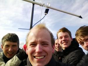 SOTA selfie. Much wind. Wow.